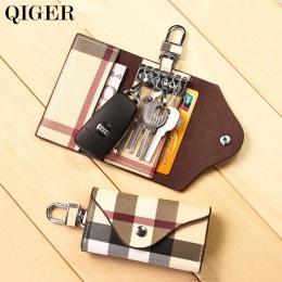 QIGER Mody Chusta Klucz Wielofunkcyjny Portfel Uchwyt Mężczyźni/Kobiety Key chain Bag Car Keys Torba Skórzana Klamra Klucz Portf