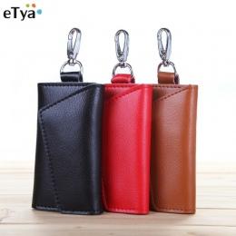 ETya Moda Kluczowe Portfele Kobiety Mężczyźni Key Purse Bag Holder Gospodyni Unisex Solidna breloczek Organizator Torba