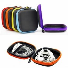 ISKYBOB Mini Zamek Słuchawki Słuchawki SD Karta Bag Storage Box Klucz Portfel