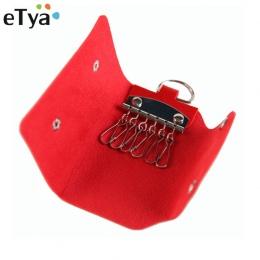 ETya Moda Kobiety Mężczyźni Posiadacz Klucza Portfel Wysokiej Jakości PU Leather Unisex Kluczowe Portfele Gosposia Kluczy Portfe