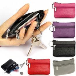 2018 PU Skórzane Portmonetki kobiet Mała Zmiana Pieniądze Torby Kieszeń Portfele Breloczków Przypadku Mini Etui Zipper Carteira