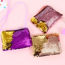 Kobiety monety kiesy sequines kieszeni zmiany portfel dla dziewczyn plac organizator słuchawki etui przenośne słodkie dzieci zip