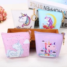 Cute Girl Dzieci Portmonetki Posiadacza Kawaii Unicorn Zwierząt Kobiet Mini Zmiany Portfele Money Bag Coin Bag Dzieci Zipper Pou