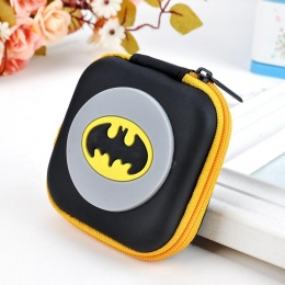 Gorąca Nowość Cartoon Anime Bohater Batman Logo Silikon Monety Kiesy Bat Man Superman Spiderman Ironman Coin Bag Dzieci Mini Sło
