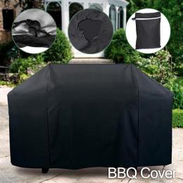 Czarny Wodoodporny BBQ Grill Cover Anti Pył Deszcz Dowód Grill Protecter Drop Shipping Dla Gazu Węgiel Elektryczny Grill Torba