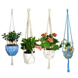 WITUSE Macrame Roślin Wieszak Hak Uchwyt Zdobądź Handmade 100% Bawełna przewód Roślin Wieszaku Wisi Kosz Uchwyt Prosty/Pomponem