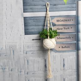 Kwiat Roślin Doniczkowych Kosz Uchwyt Rocznika Macrame Doniczka Holder Roślin Liny Wiszące Ścienne Wiszące Art Home Decoration