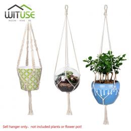 Sprzedaż Macrame Roślin Hak Wieszak Uchwyt Zdobądź Handmade Przewód Bawełna 100% Roślin Wieszak Wiszące Kosz Uchwyt Prosty/Pompo