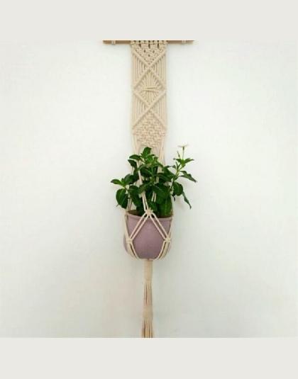 Asypets Handmade Weave Liny Rośliny Wieszak Kryty Odkryty Wiszące Sadzarka Doniczka Holder 10