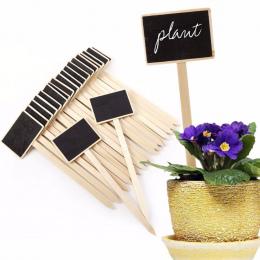 20 Sztuk Drewniane Roślin Ogrodowych Nasion Etykiety Etykiety Tagi Marker Tablicy Puli Kwiat Udziałów Plante Domu Prezenty Dosta