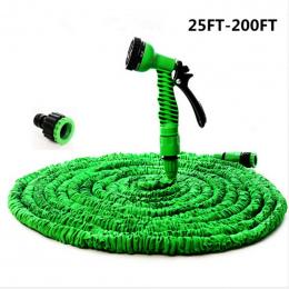 Gorący Magia elastyczny wąż Rozbudowy Ogród zwijadła Ogród Wodny Wąż podlewania złącze Rury Niebieski Zielony 25-200FT Samochodu