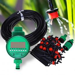 25 m DIY Mikro System Nawadniania Roślin Samo Automatyczny Zegar Podlewania Ogrodu Zestawy Węży Z Regulowany Kroplownik