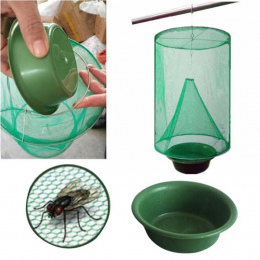 OGFFHH Zdrowia 1 sztuk Pest Control Wielokrotnego Użytku Wiszące Catcher Fly Zabójca Muchy Flytrap Zapper Klatka Netto Pułapka O