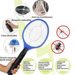 2 baterie AA Obsługiwany Ręcznie Rakieta Elektryczny Swatter Komarów Owady Domu Ogród Pest Bug Fly Mosquito Zapper Packa Morderc