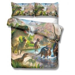 Drop Shipping 3D Kołdra pokrywa Zestaw Pościeli Druku dinozaur Drukuj Kołdra pokrywa zestaw Pościeli z Poszewki łóżko ustawione