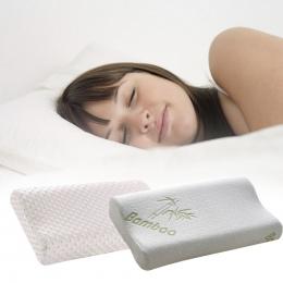 Unihome Białe włókna bambusowego powolne pamięci odbicie poduszki opieki zdrowotnej poduszki miejsca