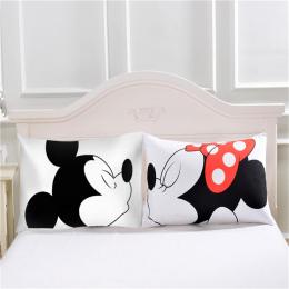 Śliczne Mickey Mouse Poszewka na Poduszkę Biały Para Kochanków Prezent Poduszka Rzut Poszewki Home Beddroom Dwie Pary Poduszki P