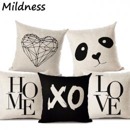 Jelenia Domu Gwiazda Miłość Panda Drukowane Bawełniana Pościel Poszewka na Poduszkę Dekoracyjne Office Home Rzuć Pillow Pokrywy