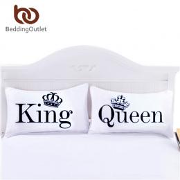BeddingOutlet Królowa Król Poszewki Dekoracyjne Ciała Poszewka na Poduszkę Zwykły Projekt Kwalifikacje Pościel 20 cal x30 cal Po