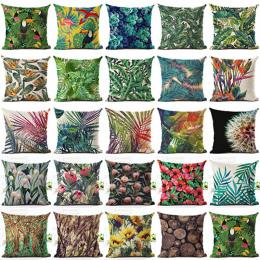 Tropikalnych Roślin Zielonych Liści Kwiat Pościel Poszewka Na Poduszkę