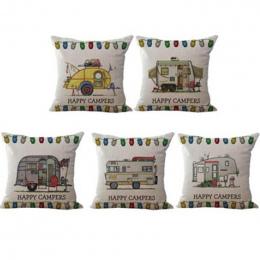 10 styl Talia poszewka na poduszkę Szczęśliwy Wczasowiczów pillowcover poduszka przypadki tekstylia domowe prezent poduszka pośl