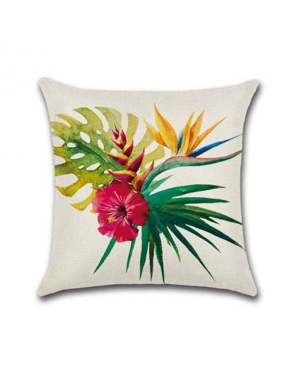 Ywzn Tropikalne Rośliny Dekoracyjne Poszewki Flamingo Rzut Pościel Bawełniana Poduszka Case Kwiaty Pokrywa Poduszki Kussensloop