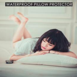 LFH 50X70 cm Wodoodporna Zapinana Na Zamek Poduszka Protector Bed Bug Dowód Poduszki Pokrywa Chroni Przed Roztocza Kurzu Gładka