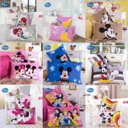 Rabaty! Disney 100% Poszewki Bawełniane 2 Sztuk Kreskówki Mickey Minnie Księżniczka Para Poduszki Dekoracyjne Pokrywy PillowsCas