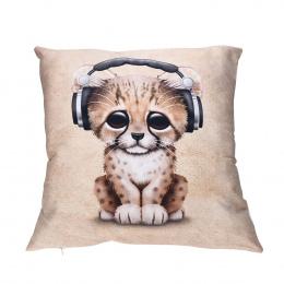 3D Animal Prints Bawełniane Poszewki Poliester Miękkie Poduszki Siedzenia Pokrywa Cafe Strona Główna Użytkowa Talia Poszewki na