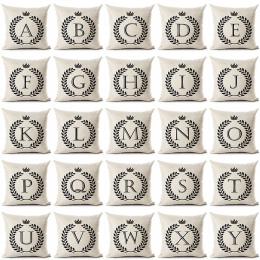 List Alfabet Angielski Drukowane Bawełniana Pościel Poszewka na Poduszkę Dekoracyjne Office Home Rzuć Pillow Pokrywy Cojines Alm