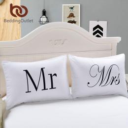 BeddingOutlet Pan i Pani Poszewki Para Jego i Jej Spersonalizowane Pokrywa Poduszki Poszewki Na Rocznicę Prezent Ślubny