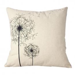 Fronha poduszki Case Home Cotton Linen Plac Rzuć Poszewka na poduszkę Ciało Pokrywa Poduszki Travesseiro Dandelion, geometria, l