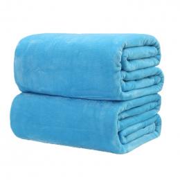 Tekstylia domowe koc solid color super ciepłe miękkie Flanelowe koce rzut na sofa/łóżko/podróży pledy narzuty arkuszy hurtownie