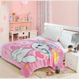 Mary Doraemon Kot Kreskówka Koc Tekstylia Domowe dla Dzieci Prezent Stitch Koral Polar Koc Rzut na Łóżko Sofa Chłopcy 150*200 cm
