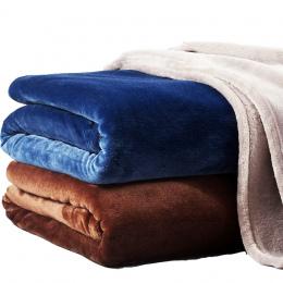 Jednolity Kolor Flanela Koral Polar Koc Super Miękkie Plaid Arkusze Narzuta Rozkładana Okładka Winter Warm Łatwy Wash Faux Fur K