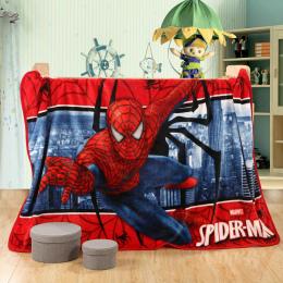 Cartoon Ciepły Koc Miękki Koc Polar Koc Super Spider-man na Łóżko Koral Polar Ciepłe Koce Rzut 100x140 cm Rozmiar Dla Dziecka