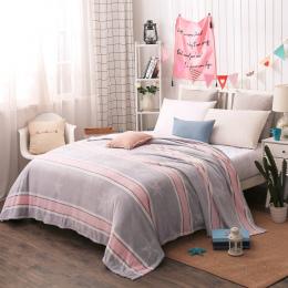 Cheap200x230cm big size tekstylia domowe Koral Polar gwiazda koc narzuta na łóżko kanapa koc ciepła zima podróży koc