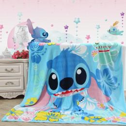 Lilo Stitch Floral Wydrukowano Koce Zgłasza dla Dziewczyny Chłopcy dzieci Dzieci Prezent Domu Sypialnia Dekoracji Flanelowe Nieb