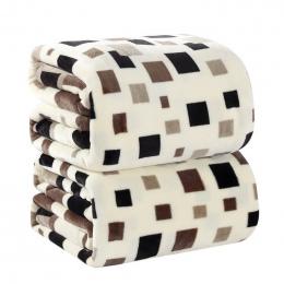 4 rozmiary tekstylia Domowe Placu kratę Japan Style Wydrukowano 200 cm X 230 cm Geometryczne Czekolada Ręcznie Umyć ciepłe flane