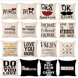 Litery Gorąco drukowane Pościel Poduszka Pokrywa Litery Graficzne Seria Moda Wygodny Dom Plac poszewka Poduszki oparcie