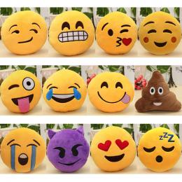 6 Cal Piękny Emotikon Smiley emotikon Poduszki Miękkie Nadziewane Plush Cute Cartoon Zabawki Lalki 12 Style Christmas Gift 2018