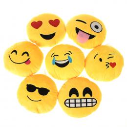 Miękki Breloczek Poduszki QQ Twarzy Emocje Poduszki Żółty Okrągły Poduszka Nadziewane Pluszowa Zabawka Prezent Torby Kiesy Wisio