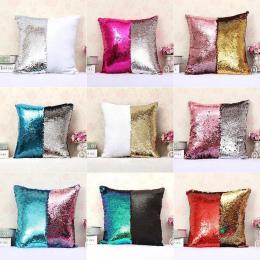 1 Pc 40*40 cm Podwójne Kolor Odwracalne Syrenka Cekinami Glitter Pokrywy Poduszki Poszewka na Poduszkę Decor