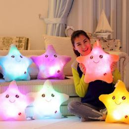 Kolorowe Poduszki Ciała Gwiazda Światła LED Luminous Glow Pillow Poduszka Miękkie Relax Prezent Smile 5 Kolory Ciała Poduszki