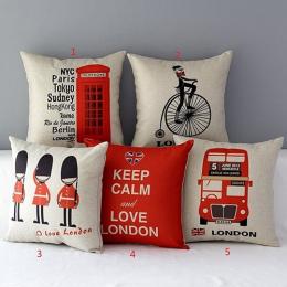 London Znaków Flag Autobus Pościel Poduszki Rzuć Pillow Pokrywy skrzynka Anime Poduszki Poszewki Na Poduszkę Poszewka Syrenka Ch