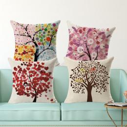 Dzieci dekoracyjne poduszki Europa sezon drzewa plac wydrukowano bawełniana pościel poduszki siedzenia nie napełniania housse co