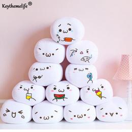 Keythemelife 7 Style Miękkie Uśmiech Emotikon Emotikon Poduszka Nadziewane Pluszowa Zabawka Lalka Poduszki Białe Okrągłe Walenty