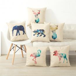 Moda hot Zwierząt wydrukowano poduszka Pokrywa lub poduszki Dekoracyjne Poszewka Home Decor