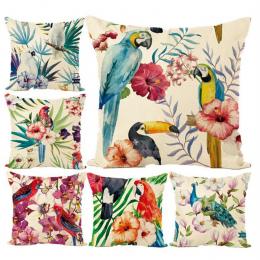 Nowy przyjazd Ameryki południowej Stylu papuga paw Pościel Rzuć Pillow pokrywy Room Decor poszewka Cartoon Piękny Fashion Hot sp
