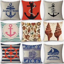 Strona główna dekoracyjne poduszki Europa plac bawełniana pościel morskie poduszki siedzenia Sea style żeglarstwo Kotwica coussi